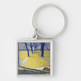 Washing in the Sun, 1905 Silver-Colored Square Key Ring