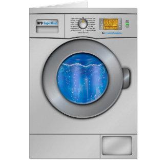 Washing Machine Greeting Card