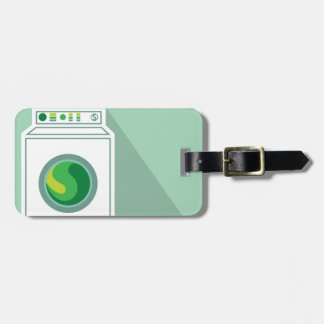 Washing Machine Laundry Room Luggage Tag