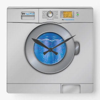 Washing Machine Square Wall Clock