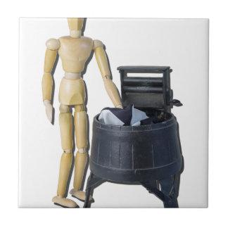 WashingClothesVintageWringers011815 Small Square Tile