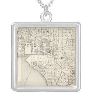 Washington 4 silver plated necklace