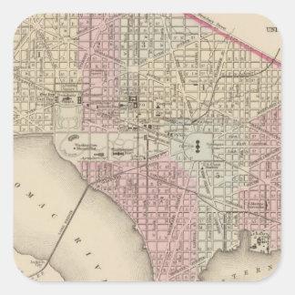 Washington 4 square sticker