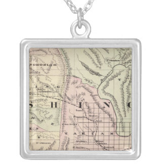 Washington 5 silver plated necklace