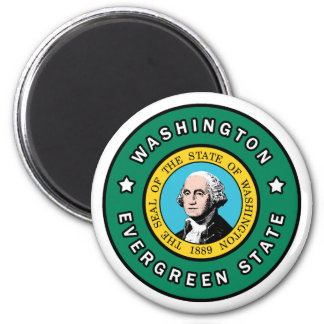 Washington 6 Cm Round Magnet