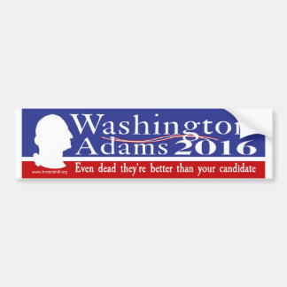 Washington Adams 2016 Bumper Sticker