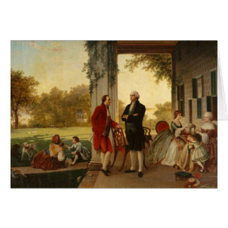 Washington and Lafayette at Mount Vernon 1784 Card