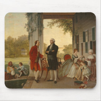 Washington and Lafayette at Mt. Vernon Mouse Mat
