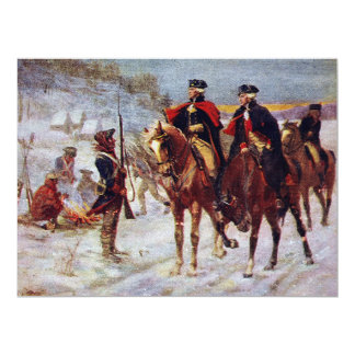 Washington and Lafayette at Valley Forge ~ 17 Cm X 22 Cm Invitation Card