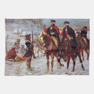 Washington and Lafayette at Valley Forge ~ Tea Towel