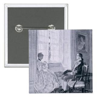 Washington and Mary Philipse 15 Cm Square Badge