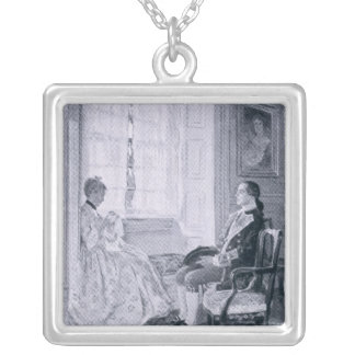 Washington and Mary Philipse Silver Plated Necklace