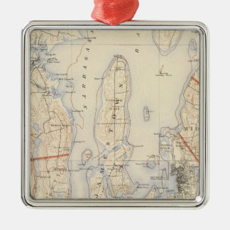 Washington and Newport County Christmas Ornament
