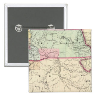 Washington And Oregon 15 Cm Square Badge