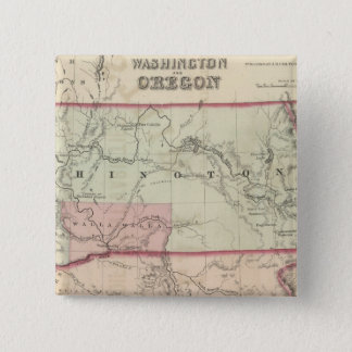 Washington and Oregon and Idaho and Montana 15 Cm Square Badge