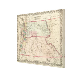 Washington and Oregon and Idaho and Montana Canvas Print