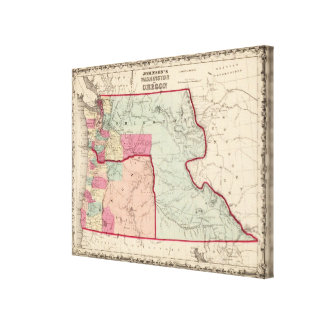 Washington and Oregon Canvas Print