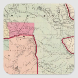 Washington and Oregon Square Stickers