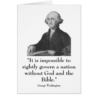 Washington and quote card