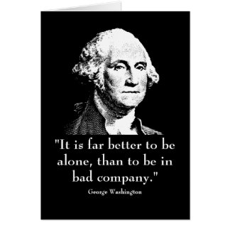 Washington and quote greeting card