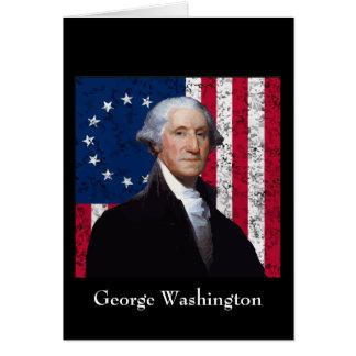 Washington and The American Flag Card