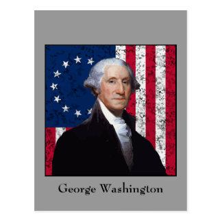 Washington and The American Flag Postcard