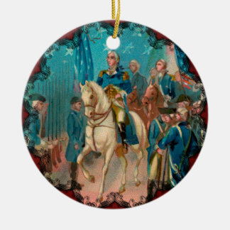 Washington and Troops Ornament