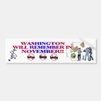 Washington - Anti ObamaCare, New Taxes & Spending Bumper Sticker