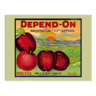Washington Apples Postcard
