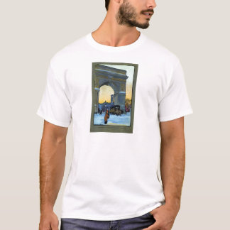 Washington Arch at Winter Twilight T-Shirt