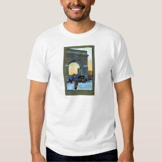 Washington Arch at Winter Twilight T-shirts