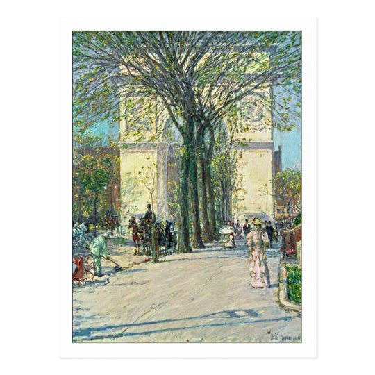 Washington Arch New York by Childe Hassam Postcard