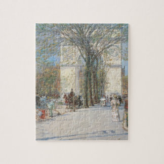 Washington Arch, Spring by Childe Hassam Jigsaw Puzzle
