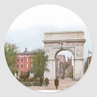 Washington Arch, Washington Square, New York Round Sticker