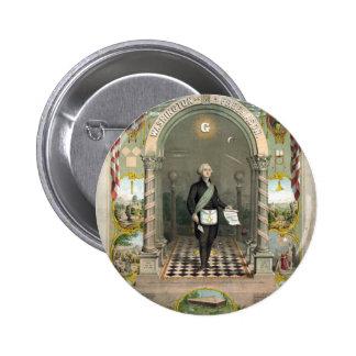Washington as a Freemason button