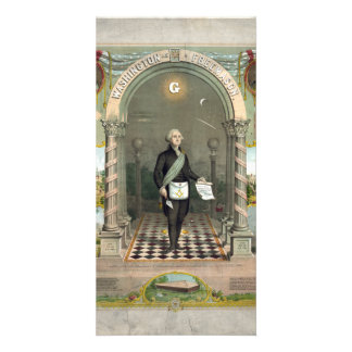"""Washington as  a Freemason"" photo cards"
