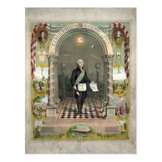 """Washington as  a Freemason"" postcards"