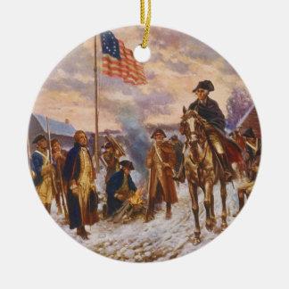 Washington at Valley Forge by Edward P. Moran Christmas Ornament