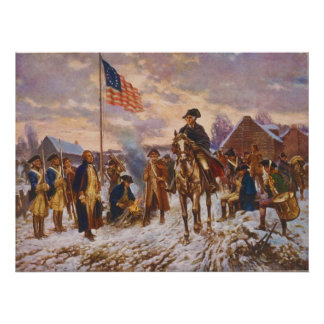 Washington at Valley Forge by Edward P. Moran Poster