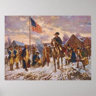 Washington at Valley Forge by Edward P Moran Print