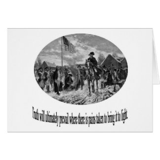 Washington at Valley Forge with Quote Greeting Card