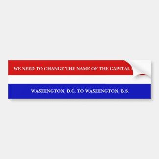 WASHINGTON, B.S. BUMPER STICKER