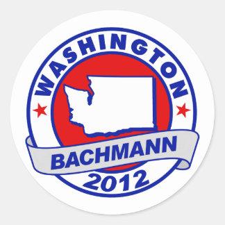 Washington Bachmann Round Sticker