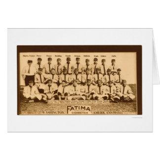 Washington Baseball Team 1913 Card