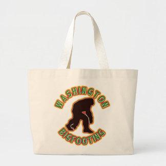 Washington Bigfooting Large Tote Bag