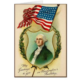 Washington Birthday Greeting Greeting Card