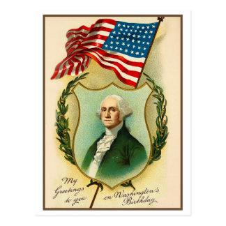 Washington Birthday Greeting Post Cards