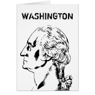 Washington -- Black and White Greeting Card
