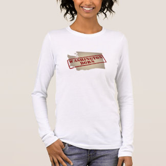 Washington Born - Stamp on Map Long Sleeve T-Shirt