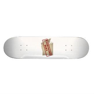 Washington Born - Stamp on Map Skateboard